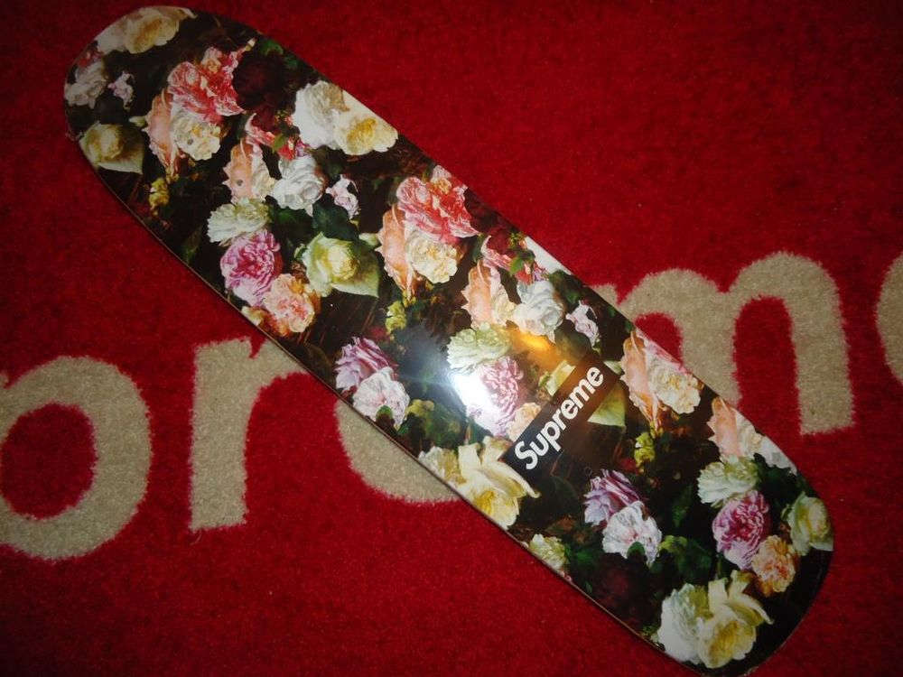 SUPREME 2013 S/S POWER CORRUPTION LIES PCL CRUISER SKATEBOARD DECK FLORAL ROSE