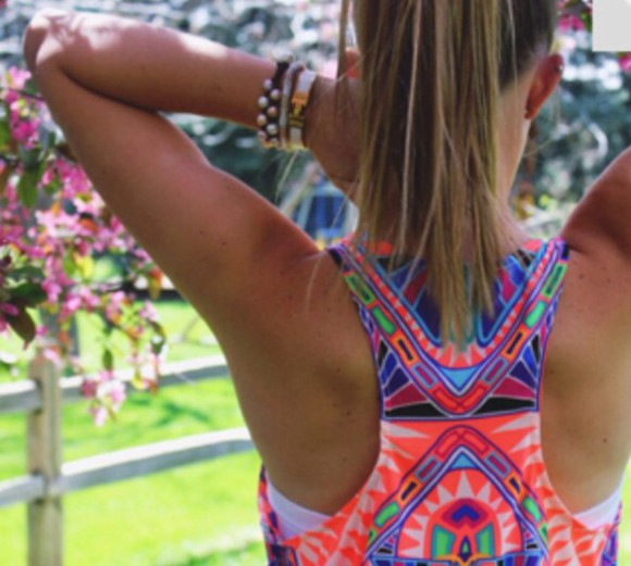 tank top tribal pattern colorful