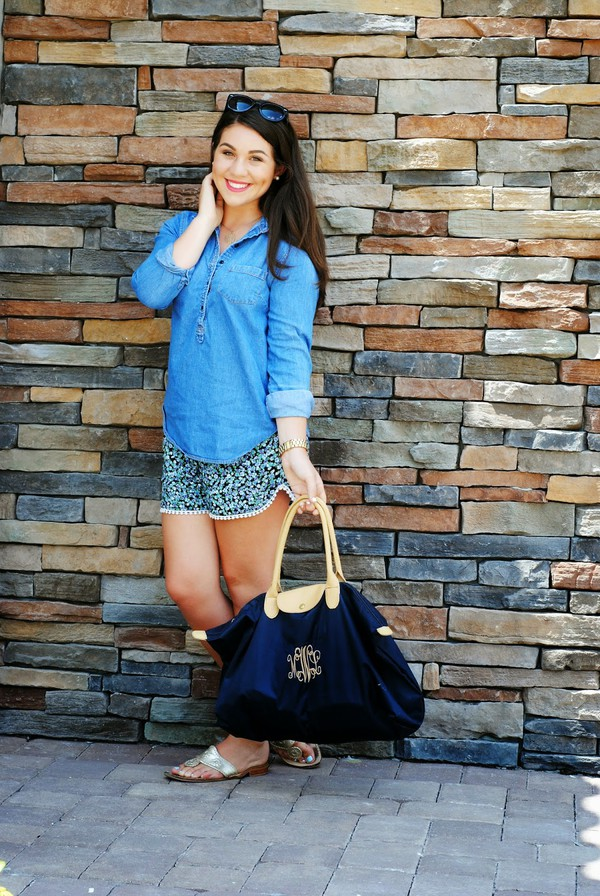 madison lane top shorts shoes sunglasses bag jewels