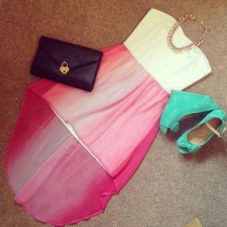 dress party dress high heels night day makeup bag withe