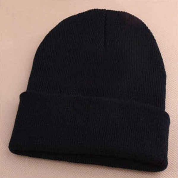 Unisex Men Women Warm Cuff Solid Color Plain Knit Ski Long Beanie Skull Cap Hats | eBay