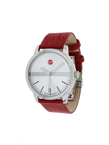 women watch leather red jewels
