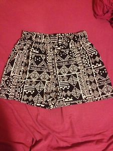 Love Culture High Waist Black White Tribal Print Shorts | eBay
