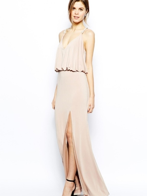 dress nude ivory dress prom dress
