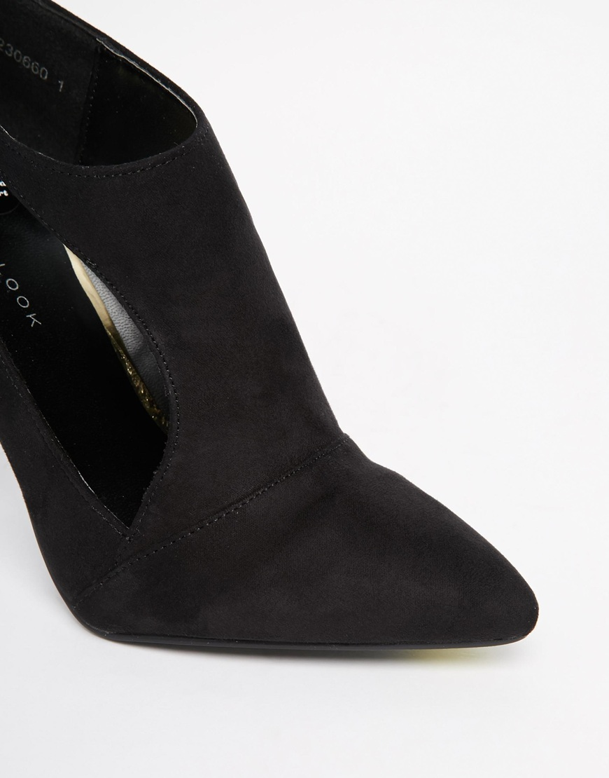 New Look Sevens Cut Out Heeled Shoe Boots at asos.com