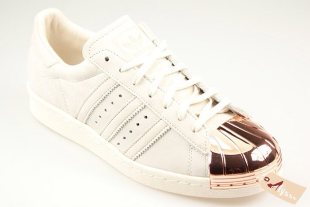 adidas metal rose gold toe