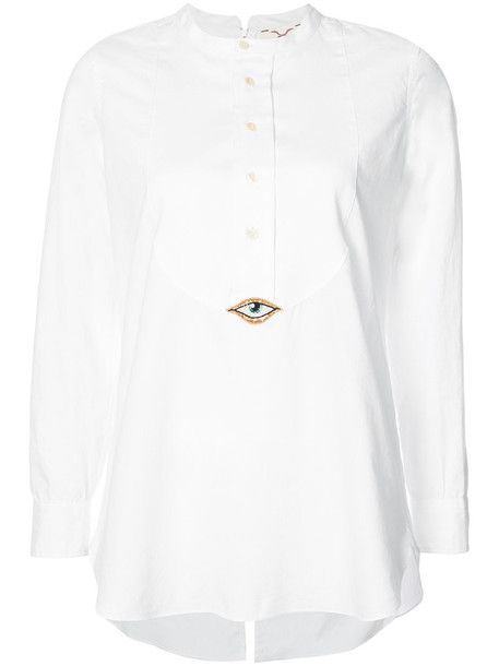 Figue shirt women white cotton top