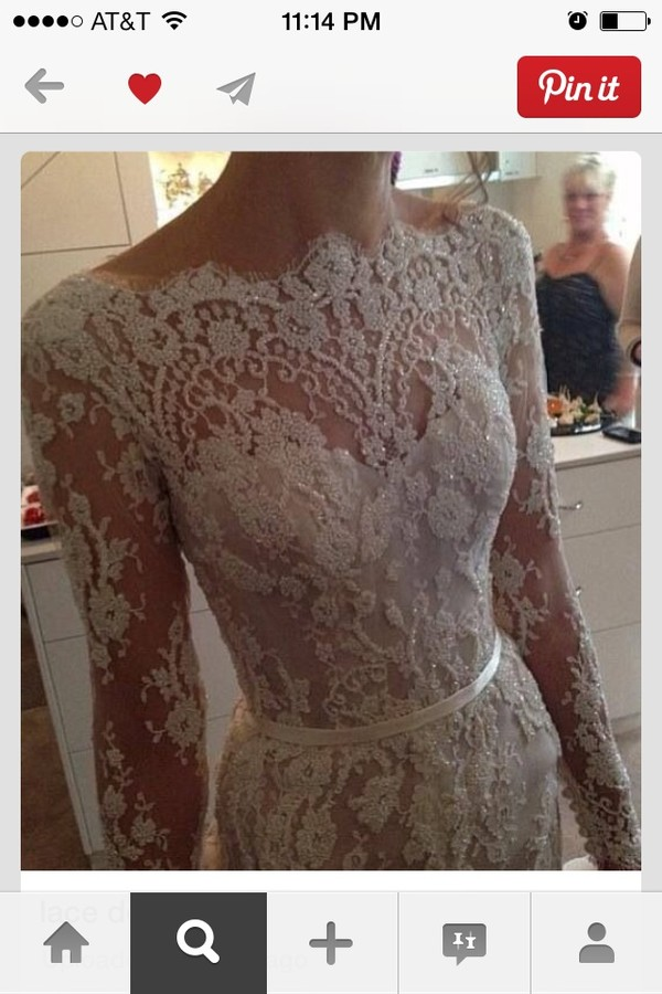 dress wedding dress lace dress long sleeve dress