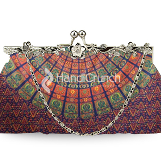 bag clutch chain bag handbag multicolor