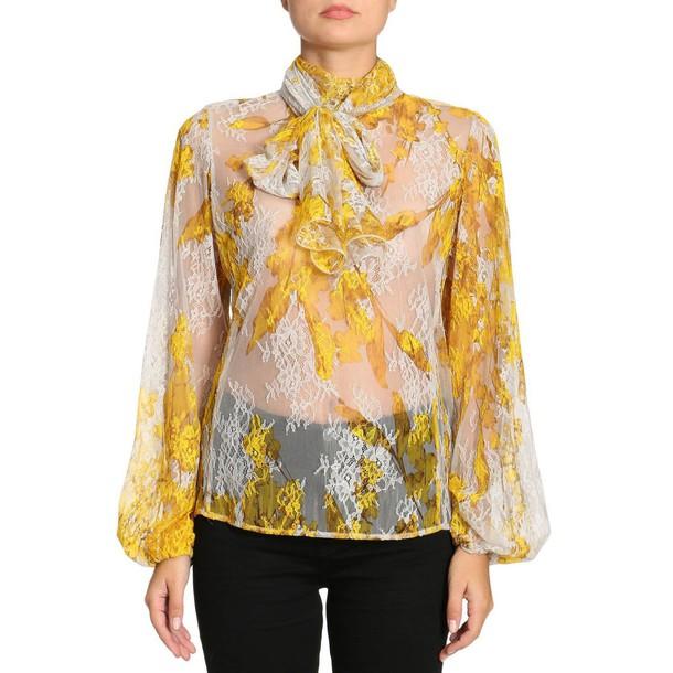 Blumarine shirt women yellow top