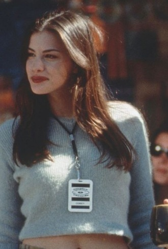 sweater liv tyler cropped sweater vintage