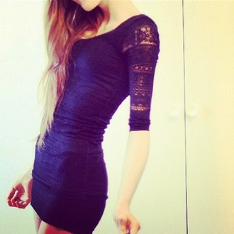 dress ombre hair wardrobe lace girl black blue bodicon navy lace dress bodycon dress
