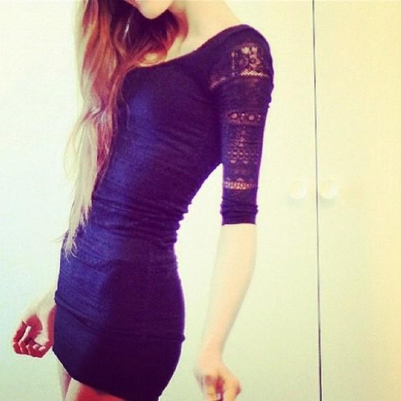 bodycon dress dress ombre hair wardrobe lace girl black blue bodicon navy lace dress