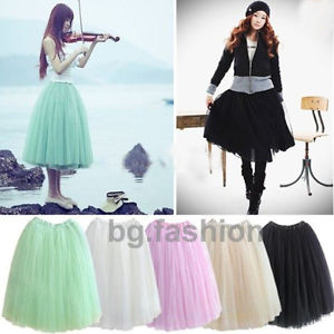 Princess Fairy Layers Tulle Tutu Pleated Petticoat Dress Boho MIDI ...