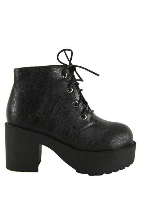flesheating's save of Chunky Flashback Booties | Miracle Eye Original Clothing & Vintage on Wanelo