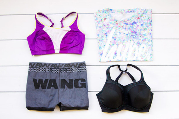 i want you to know blogger sports bra alexander wang sportswear shorts