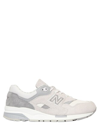 mesh sneakers suede white grey shoes