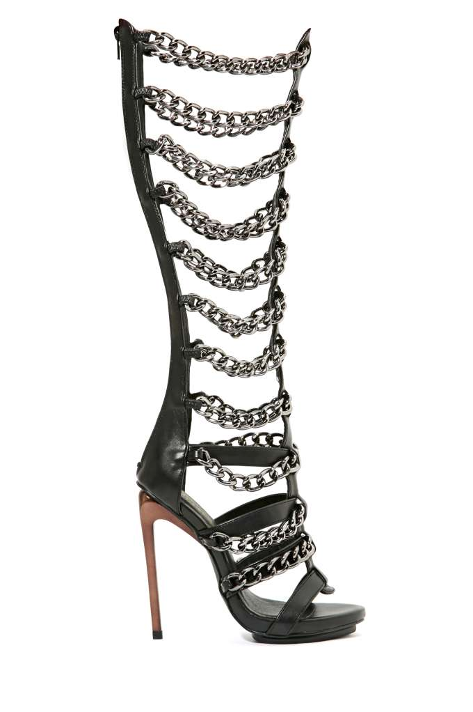 Privileged Vunk Chained Gladiator in  Shoes Heels at Nasty Gal