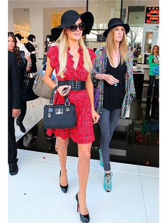 shoes paris hilton heels black leather round toe red bottom stilettos 160 mm daffodile platform shoes pumps