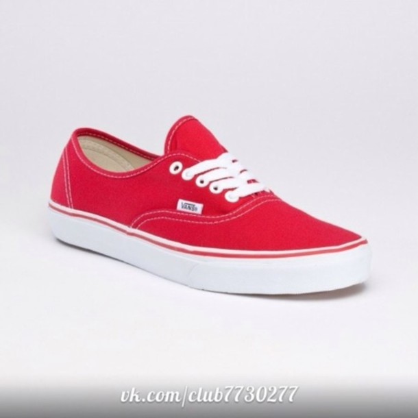 shoes vans red