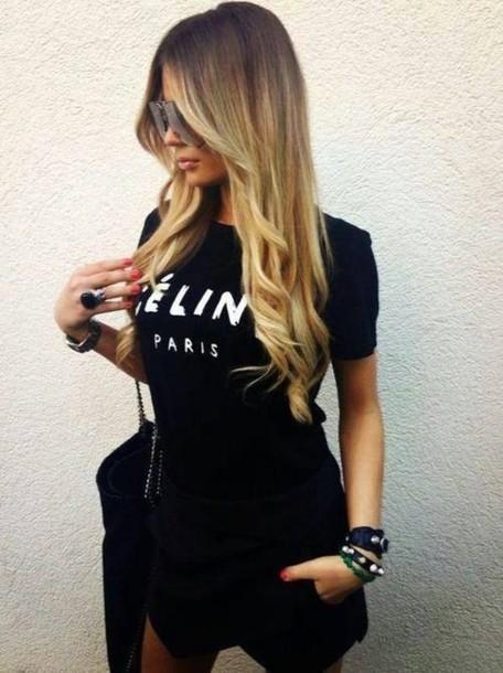 t-shirt celine celine t-shirt black celine paris shirt