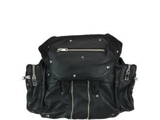 studded rose backpack black bag