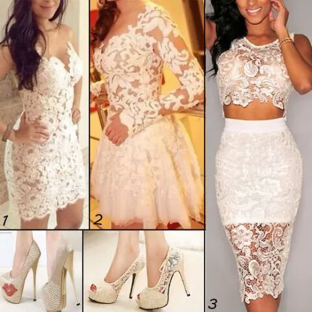 dress white dress lace dress extra large white heels