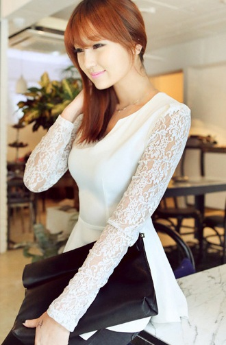 Aliexpress.com : Buy Sweet Semi Sexy Sheer Long Sleeve Embroidery Floral Lace Crochet Tee Top Dress Vintage Blouse from Reliable blouse sheer suppliers on Vinky's little world