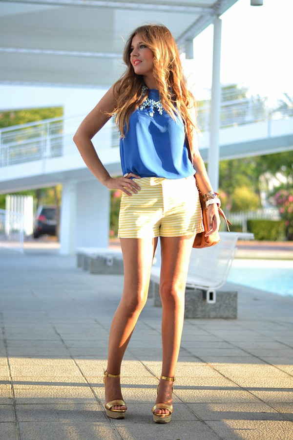 mi aventura con la moda top t-shirt jewels bag shoes make-up shorts