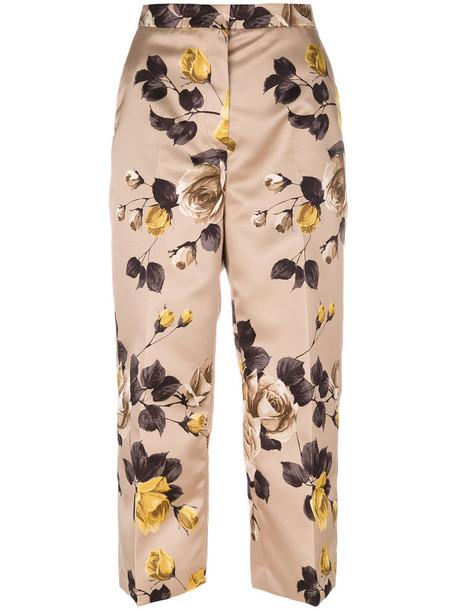 Rochas pants cropped pants cropped women floral print brown