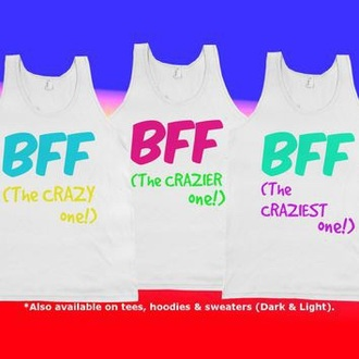 shirt crazy ones crazy kids we are not just friends we're sisters bff shirts crazy t-shirt bff matching tanks bff sweaters sisters best friend shirts bff best friends top best friend tank tops pajamas