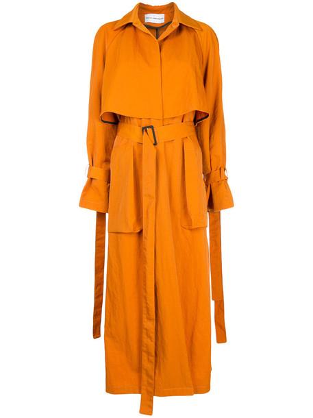 Walk Of Shame - Terracotta coat - women - Nylon - 38, Yellow/Orange, Nylon