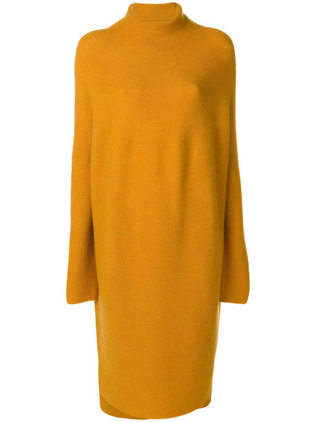 dress women yellow orange