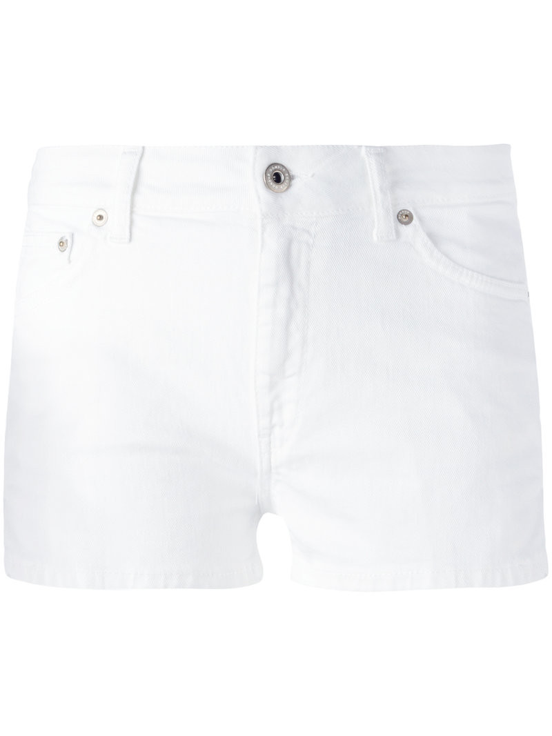 Dondup - knee-length denim shorts - women - Cotton/Spandex ...