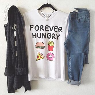 t-shirt jazrox hipster style girly quote on it hippie tumblr lookbook trendy cool food white t-shirt swag dope neon sexy classy pizza donut hamburger fries girl summer pretty beach boho chic pastel beautiful streetwear urban instagram back to school hot kawaii