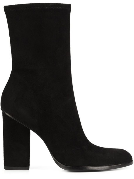 Alexander Wang women boots leather suede black shoes