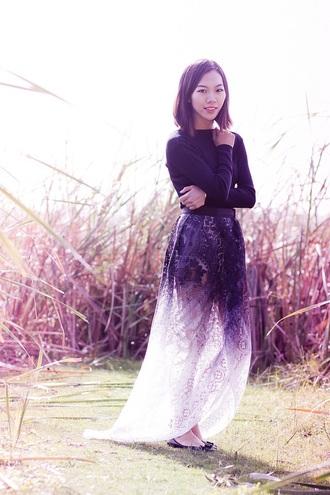 skirt ombre long skirt fading color