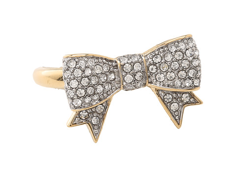 Juicy Couture Pave Bow Ring Gold - Zappos.com Free Shipping BOTH Ways