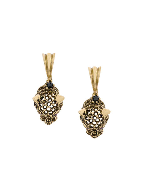 IOSSELLIANI women earrings gold silver grey metallic jewels