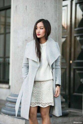 coat baby blue blue winter jacket woolrich style knitwear knitted cardigan grey coat