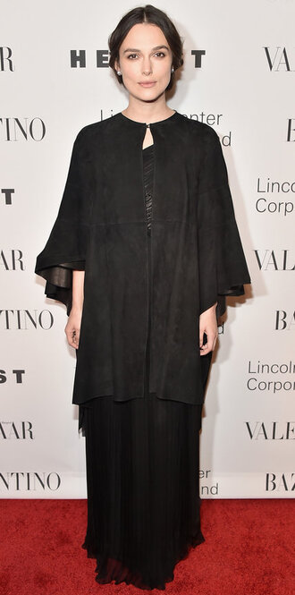 dress cape keira knightley maxi dress all black everything black