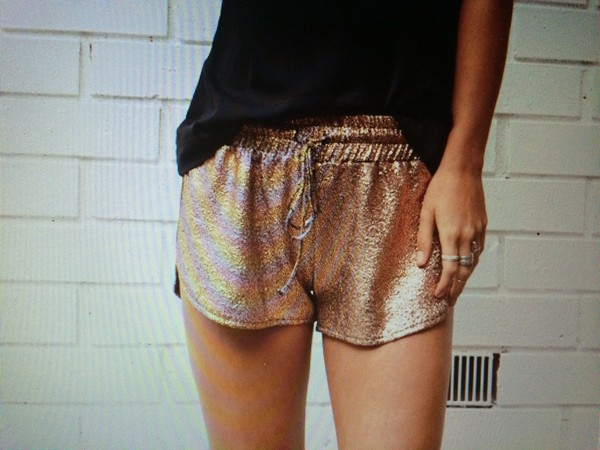 shorts gold summer