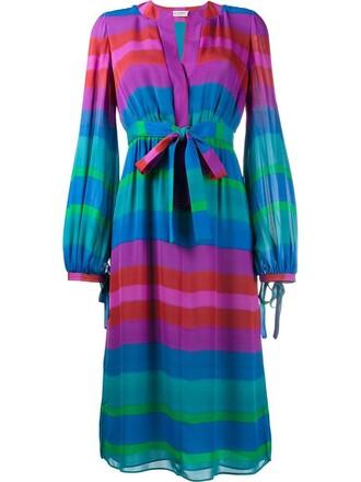 dress long sleeve dress long women silk