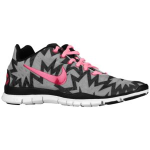 Nike Free TR Fit 3 Print - Women's - Training - Shoes - Strata Grey/Anthracite/Black/Sport Fuchsia