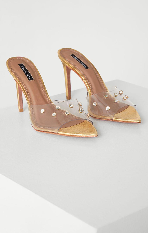 Dana Slide Sandals with Swarovski Crystals