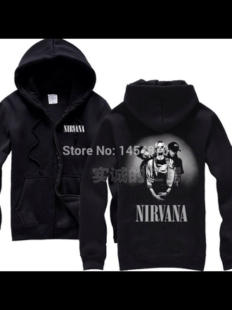jacket coat nirvana nirvana jacket nirvana t-shirt grunge alternative