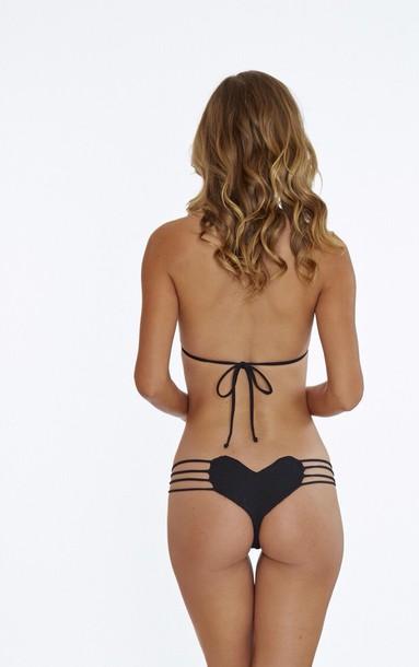 swimwear black bikini xsmall
