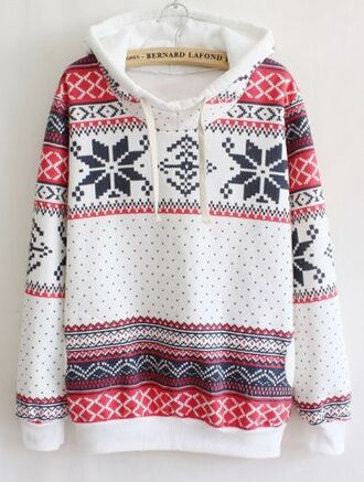sweater holidays christmas christmas sweater hoodie snowflake