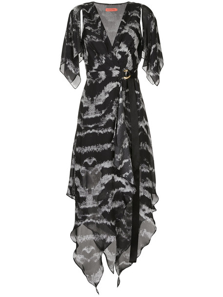Manning Cartell dress wrap dress women black silk