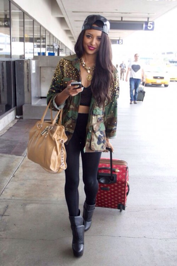 jacket leggings top shoes